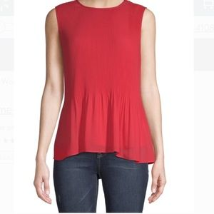 Red Rover Pleated Tank Top Size Medium (8-10)